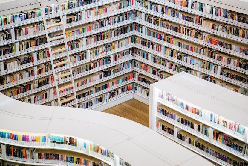 本がたくさん並べられた本屋