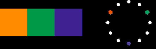 対照色相配色2