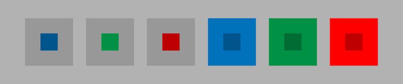 彩度対比効果